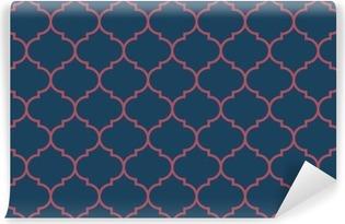 Abwaschbare Fototapete Nahtlose dunkelblau und weinrot breit marokkanisch Muster Vektor