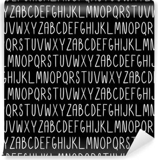 Abwaschbare Fototapete Nahtloses Muster mit Alphabet. Vektor nahtlose Textur für Tapeten, Musterfüllungen, Webseitenhintergründe