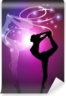 Abwaschbare Fototapete Rhythmische Gymnastik - Ribbon