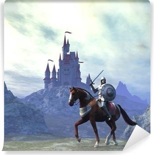 Abwaschbare Fototapete Ritter und Burg