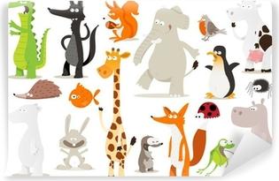 Abwaschbare Fototapete Sammlung d'animaux pour enfants