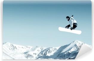 Abwaschbare Fototapete Snowboarden