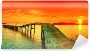 Abwaschbare Fototapete Sonnenuntergang Panorama