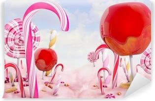 Abwaschbare Fototapete Süßigkeitsland