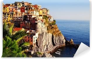 Mediterrane Architektur leinwandbild traditionelle mediterrane architektur manarola