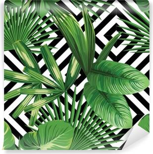 Abwaschbare Fototapete Tropischen Palmen verlässt Muster, geometrische Hintergrund