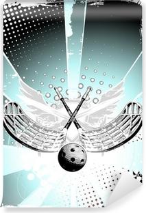 Abwaschbare Fototapete Unihockey Poster 1