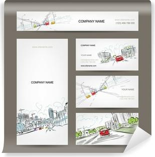 Lack Tischaufkleber Visitenkarten Auflistung Autos Auf