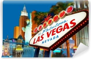 Abwaschbare Fototapete Willkommen bei Las Vegas Leuchtreklame