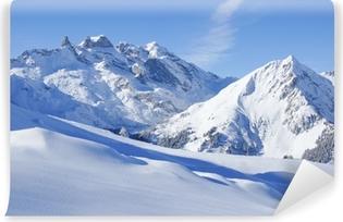 Abwaschbare Fototapete Winterlandschaft in den Alpen