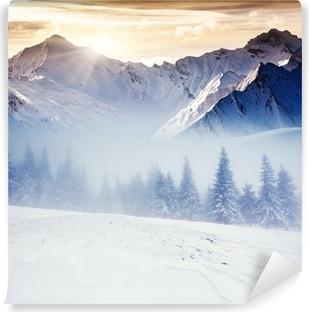 Abwaschbare Fototapete Winterlicher
