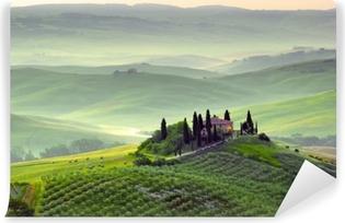 Abwaschbare Fototapete Wunderschöne Landschaft in der Toskana