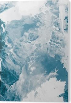 Blue marble texture. Acrylic Print
