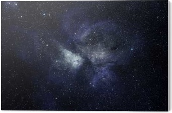 Blue space background Acrylic Print