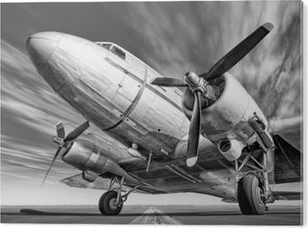 Historic airplane on a runway Acrylic Print