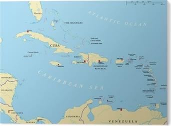Karibik Antillen Landkarte Wall Mural Pixers We Live To Change
