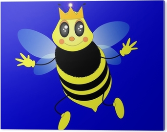 Lape regina illustrazione vettoriale stile cartone animato wall