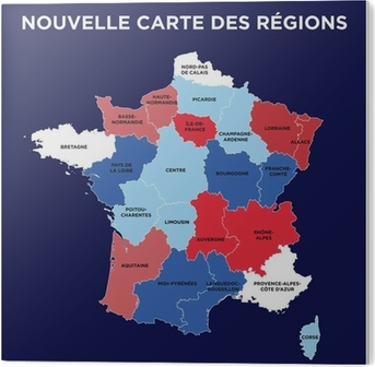 nouvelle carte des regions La nouvelle carte des régions Wall Mural • Pixers®   We live to change