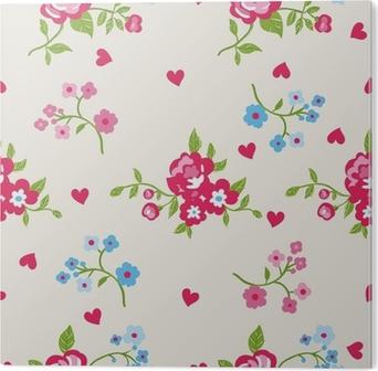 Seamless Peony Wallpaper Pattern Vector Background Acrylic Print