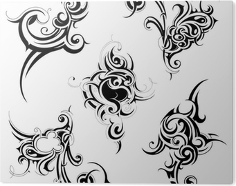 91c566e9c Tribal art set Canvas Print • Pixers® • We live to change