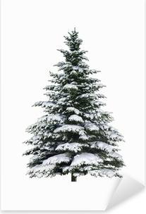 Adesivo Pixerstick Abete nella neve