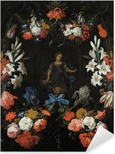 Adesivo Pixerstick Abraham Mignon - Garland of Flowers