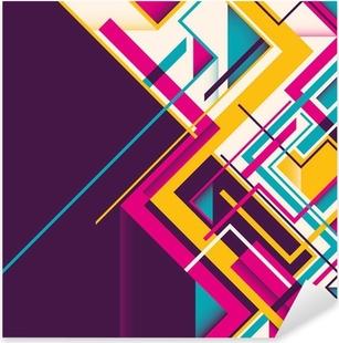 Adesivo Pixerstick Abstract illustrazione geometrica.