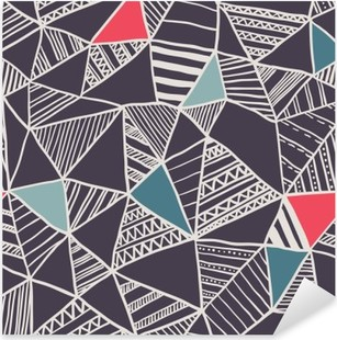 Adesivo Pixerstick Abstract seamless pattern di doodle