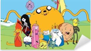 Adesivo Pixerstick Adventure Time Finn & Jake