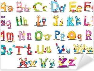 Adesivo Pixerstick Alfabeto caratteri