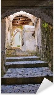 Adesivo Pixerstick Alleyway. Scalea. Calabria. Italia.