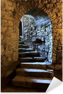 Adesivo Pixerstick Arco nel castello sotterraneo