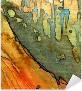 Adesivo Pixerstick Artistico sfondo acquerello,