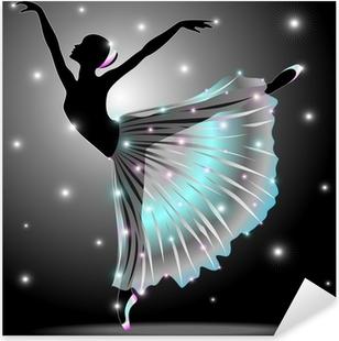 Adesivo Pixerstick Ballerina Danza Classica-Classic Dance Star Dancer-Vector
