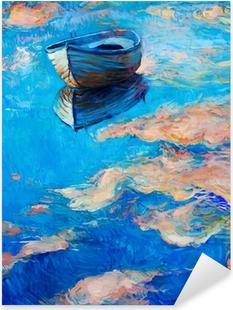 Adesivo Pixerstick Barca in mare
