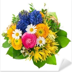 Adesivo Pixerstick Bellissimo mazzo di fiori colorati