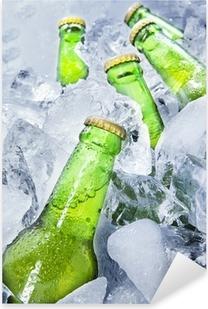 Adesivo Pixerstick Bottiglie di birra fresco su ghiaccio