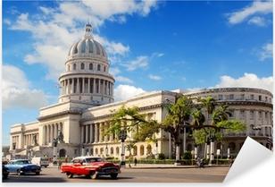 Adesivo Pixerstick Capitolio edificio a L'Avana Cuba