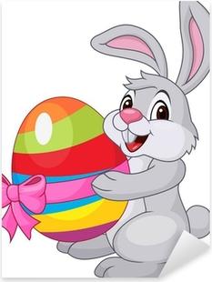 Adesivo Amore partecipazione del coniglio del fumetto di cuore ... f4e1c638a585