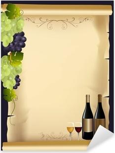 Adesivo Wine Grappolo D Uva Per Le Etichette Di Vino Etichette D