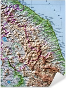 Firenze Cartina Geografica.Adesivo Cartina Geografica Della Toscana Firenze Pixers Viviamo Per Il Cambiamento