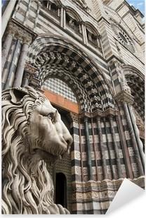 Adesivo Pixerstick Cattedrale di San Lorenzo - Genova Italia