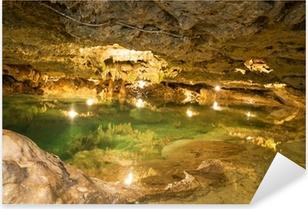 Adesivo Pixerstick Cenote in una grotta