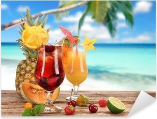 Adesivo Pixerstick Cocktail sulla spiaggia