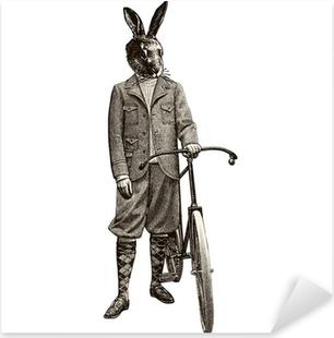 Adesivo Pixerstick Coniglio bici