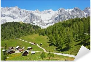 Adesivo Pixerstick Dachstein montagna nelle Alpi austriache, Austria