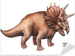 Adesivo Pixerstick Dinosauro acquerello realistico