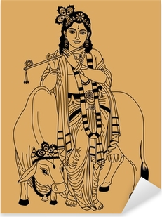 Adesivo Pixerstick Dio indiano.