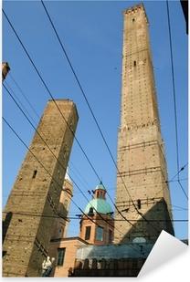Adesivo Pixerstick Due torri di Bologna