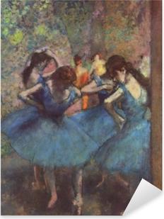Adesivo Pixerstick Edgar Degas - Ballerine blu